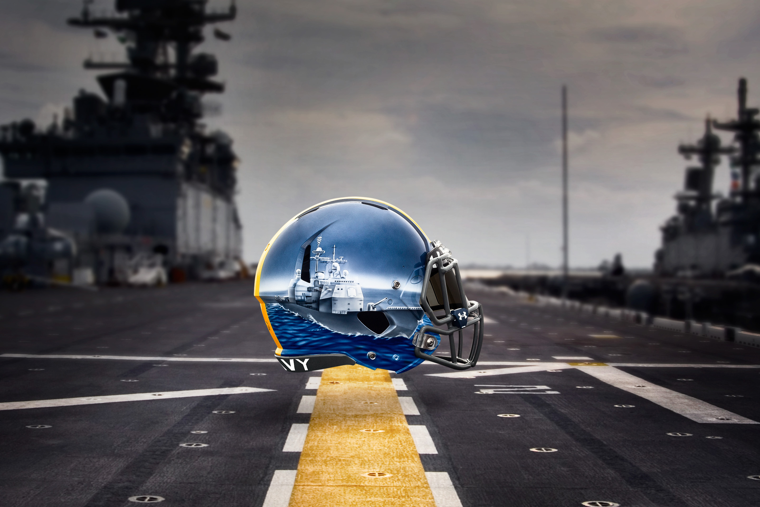 9e895d0c25f Players will wear different ships on their helmets based on their position.