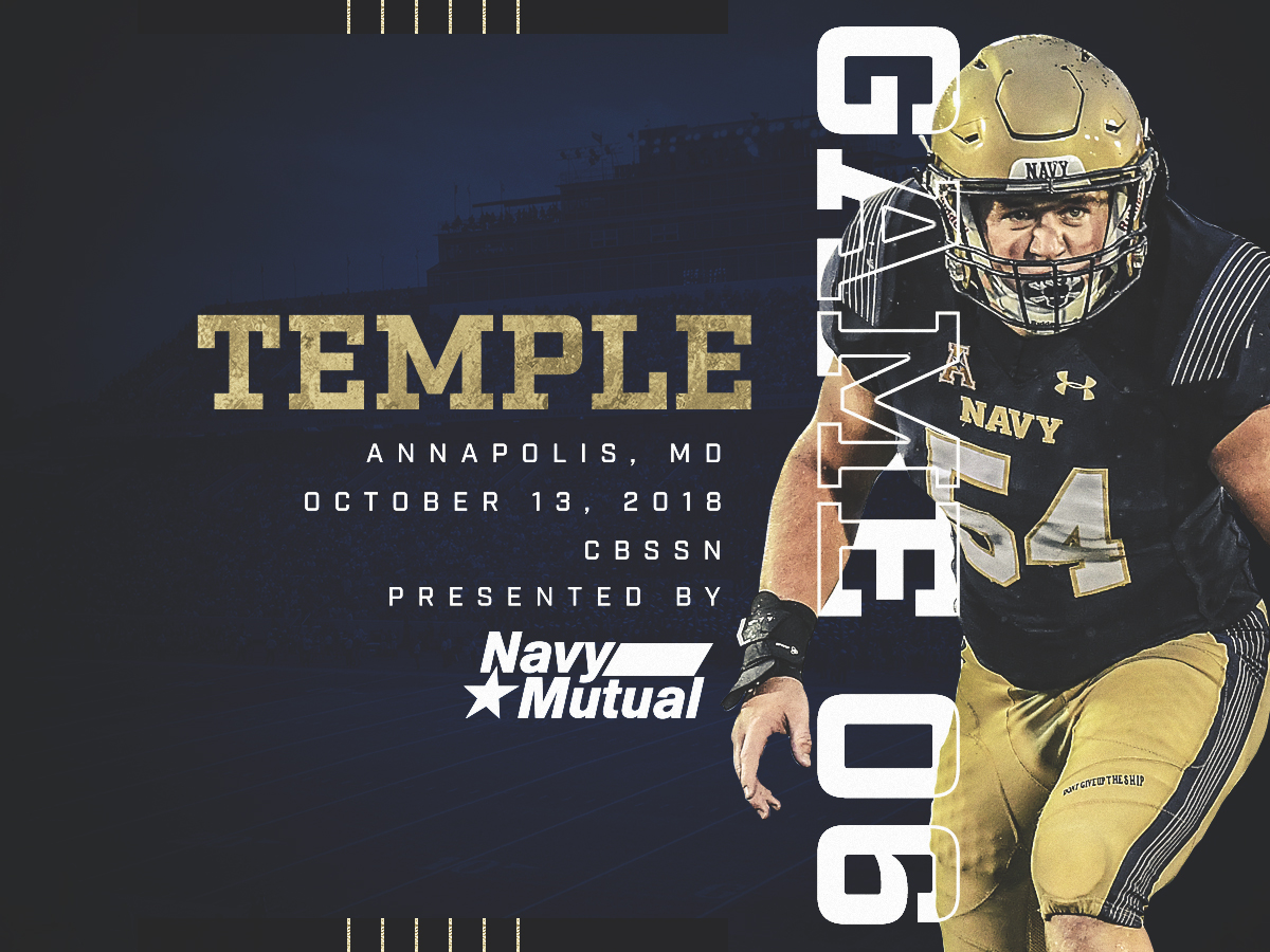 e2a288255eb Mids Play Host to Temple in Pivotal AAC Matchup - Naval Academy ...