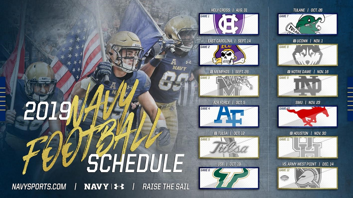 American Athletic Conference Releases 2019 Navy Football Schedule