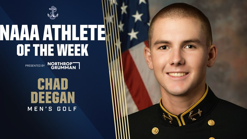 Chad Deegan Garners NAAA Athlete-of-the-Week Recognition - Naval Academy Athletics
