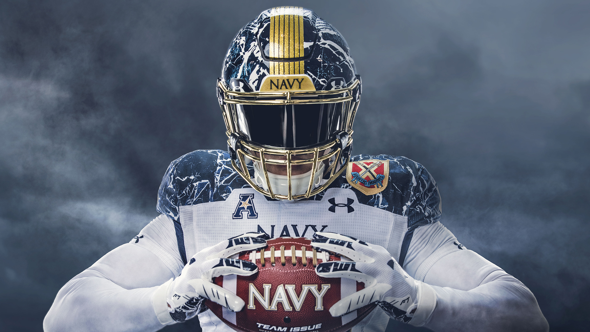 Navy And Under Armour Unveil The 2020 Army Navy Uniform That Celebrates 175 Years Of The United States Naval Academy Naval Academy Athletics
