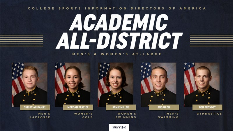 Five Mids Earn CoSIDA Academic All-District Honors - Naval Academy Athletics